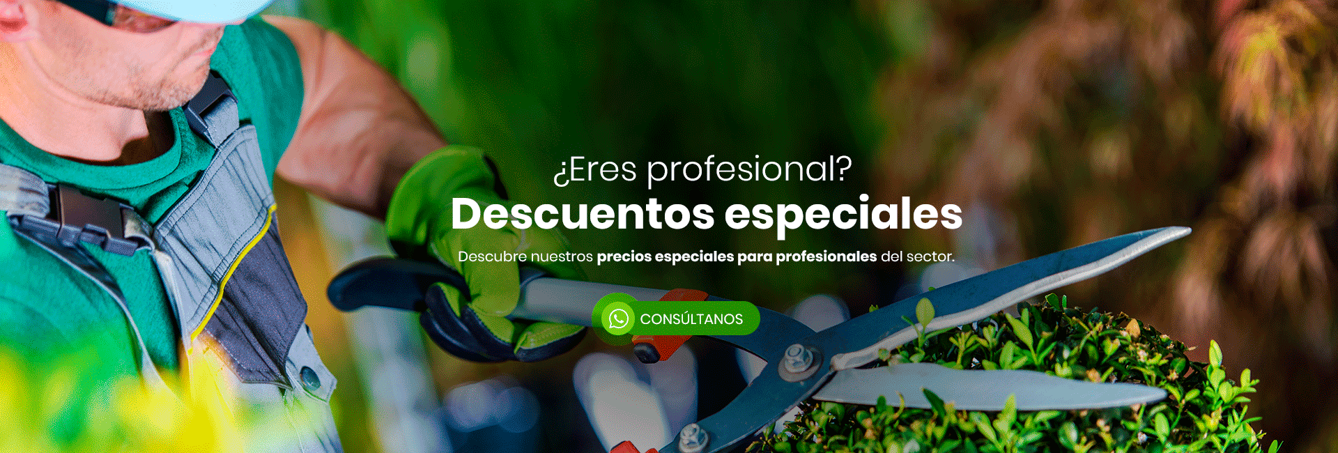 Productos y herramienta para profesionales de la jardinería
